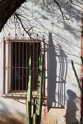 Photograph - San Xavier Window And Shadows 1 by Mary Bedy
