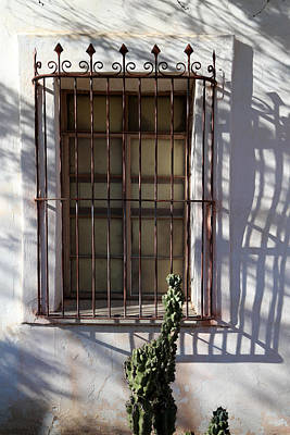 Photograph - San Xavier Window And Shadows 2 by Mary Bedy