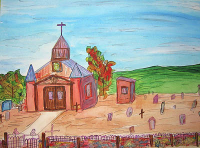 Painting - San Ysidro Church by Kerry Bennett