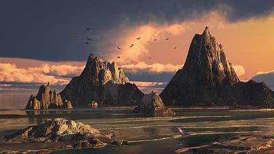 Digital Art - Sanctuary Island by Mary Almond