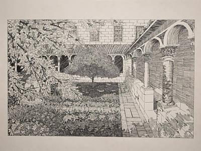 Church Pillars Drawing - Sanctuary by Thomas  Ferguson