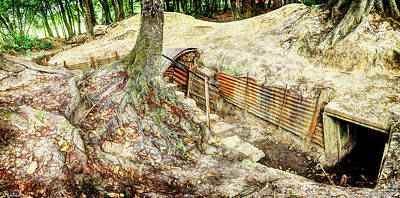 Photograph - Sanctuary Wood Trench - Ypres by Weston Westmoreland