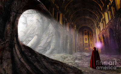 Cavern Digital Art - Sanctum by John Edwards