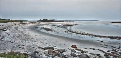 Sand Along The Shoreline Art Print