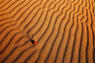Photograph - Sand And A Pebble by Vishwanath Bhat