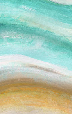 Sand And Saltwater- Abstract Art By Linda Woods Art Print by Linda Woods