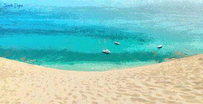 Sandbar Painting - Sand And Sea - Pa by Leonardo Digenio