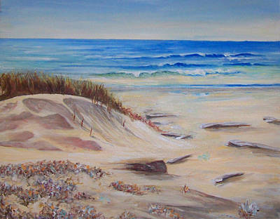 Painting - Sand And Sea by Ronald Lightcap