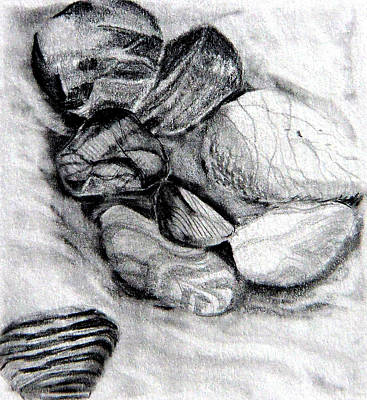 Sand And Stone Art Print by Mindy Newman