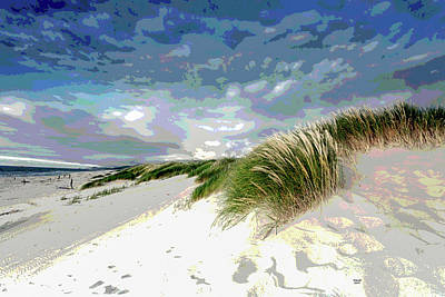 Charles Shoup Mixed Media - Sand And Surfing by Charles Shoup