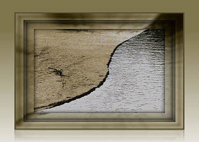Sand And Water Art Print by Dottie Dees