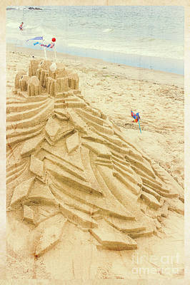 Photograph - Sand Art - Sandcastle by Colleen Kammerer