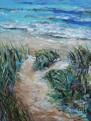 Painting - Sand Bank Bay Access by Linda Olsen