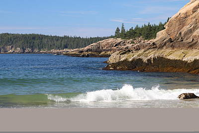 Photograph - Sand Beach Acadia by Living Color Photography Lorraine Lynch