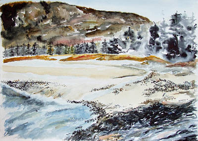 Painting - Sand Beach In Maine by Jan Anderson