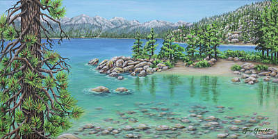 Painting - Sand Beach Lake Tahoe by Jane Girardot