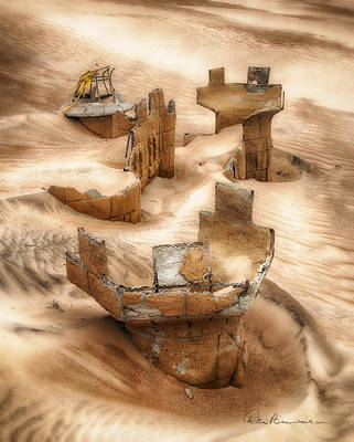 Dan Beauvais Royalty-Free and Rights-Managed Images - Sand Castle 4065 by Dan Beauvais