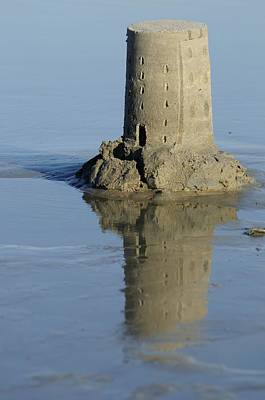 Photograph - Sand Castle Island And Reflection by Bradford Martin