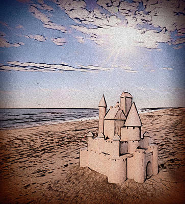Digital Art - Sand Castle by Leslie Montgomery