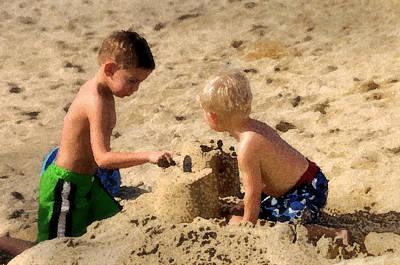 Sand Castle Print by Lyle  Huisken