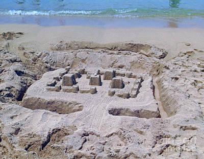 Photograph - Sand Castle by Steven Parker