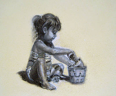 Drawing - Sand Castles by James Berger