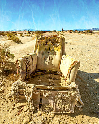 Sand Chair Art Print by Peter Tellone