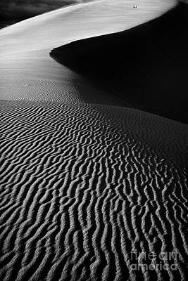 Coral Pink Sand Dunes Photograph - Sand Creation - Black And White by Hideaki Sakurai