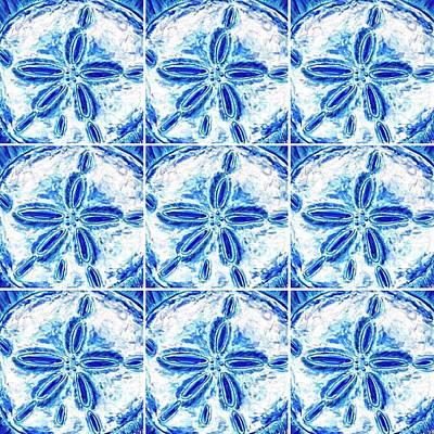 Digital Art - Sand Dollar Delight Pattern 3 by Monique Faella