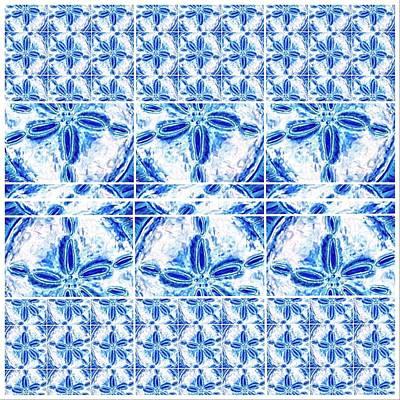 Digital Art - Sand Dollar Delight Pattern 6 by Monique Faella
