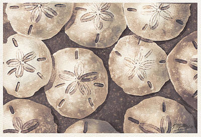 Digital Art - Sand Dollars by Kathie Miller