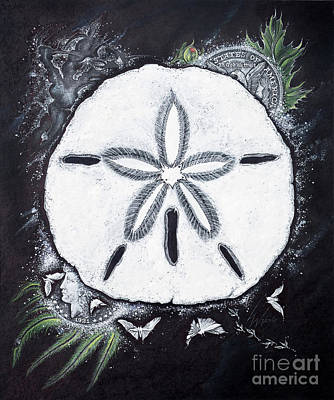 Drawing - Sand Dollars by Scott and Dixie Wiley