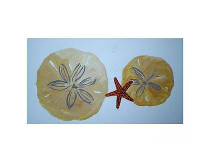 Sand Dollars With Star Fish Art Print by Hal Newhouser