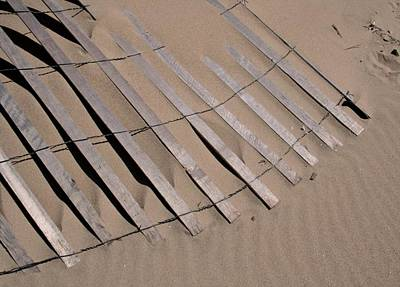 Sand Fences Photograph - Sand Drift by Odd Jeppesen