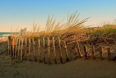 Sand Fences Photograph - Sand Dune In Late September - Jersey Shore by Angie Tirado