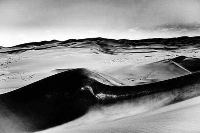Photograph - Sand Dune Patterns With Silica Shining Namib Desert by Carmen Tosca