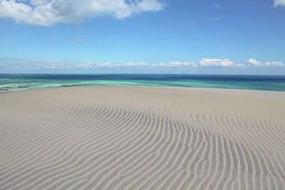 Sand Dune Ripples And The Ocean Beyond Art Print