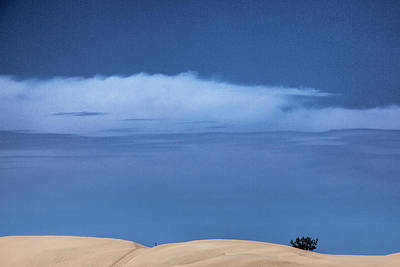Photograph - Sand Dunes At Silver Lake Michigan With Clouds by Randall Nyhof