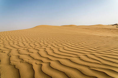 Photograph - Sand Dunes At Sunrise, Arabian Desert, Dubai, United Arab Emirates by Alexandre Rotenberg