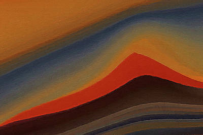 Earth Elements Painting - Sand Dunes At Sunset by Art Spectrum