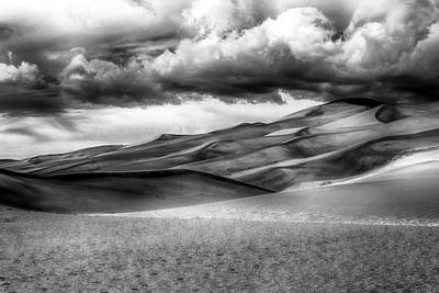 Affordable Abstract Art Photograph - Sand Dunes In Black And White by Paul Freidlund