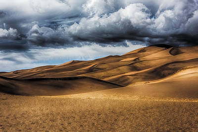 Affordable Abstract Art Photograph - Sand Dunes In Hdr by Paul Freidlund