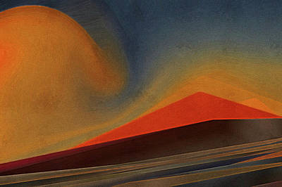 Sahara Painting - Sand Dunes Landscape At Sunset by Art Spectrum