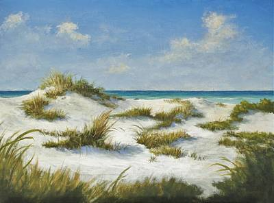 Painting - Sand Dunes Morning By Alan Zawacki by Alan Zawacki