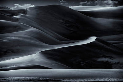 Photograph - Sand Dunes National Park Bnw Img_8057 by Greg Kluempers