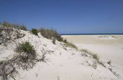 Sand Dunes On Assateague Island National Seashore - Maryland Print by Brendan Reals