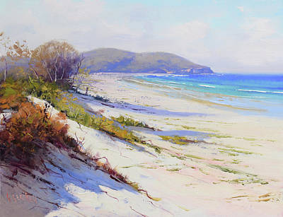 Impressionist Beach Painting - Sand Dunes Port Stephens Nsw by Graham Gercken