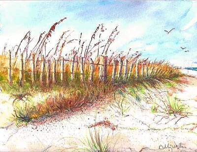 Painting - Sand Fence by Bobby Walters