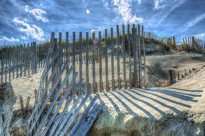 Photograph - Sand Fence by Greg Reed