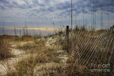 Sand Fences Photograph - Sand Fence by Sari Sauls